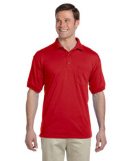 Red G890 Gildan DryBlend® 50/50 Jersey Polo Shirt with Pocket | Blankclothing.ca