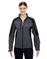 Fossil Grey - 78077 North End Ladies' Colour-Block Soft Shell Jacket