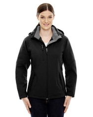 Black 78080 North End Ladies' Insulated Soft Shell Jacket With Detachable Hood