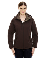 Dark Chocolate 78080 North End Ladies' Insulated Soft Shell Jacket With Detachable Hood
