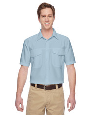 Cloud Blue M580 Harriton Men's Key West Short-Sleeve Performance Staff Shirt