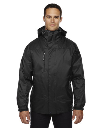 Black - 88120 North End Men's 3-In-1 Techno Performance Seam-Sealed Hooded Jacket | Blankclothing.ca