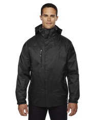 Black - 88120 North End Men's 3-In-1 Techno Performance Seam-Sealed Hooded Jacke