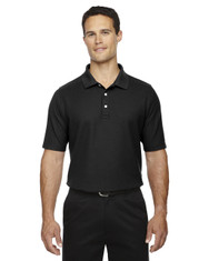 Black DG150T Devon & Jones Men's DRYTEC20 Tall Performance Polo Shirt | Blankclothing.ca