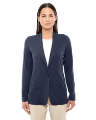 Navy DP462W Devon & Jones Ladies' Perfect Fit Shawl Collar Cardigan