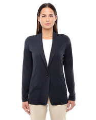 Black DP462W Devon & Jones Ladies' Perfect Fit Shawl Collar Cardigan