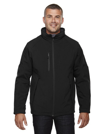 Black - 88159 North End Men's Insulated Soft Shell Jacket With Detachable Hood