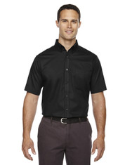 Black 88194T Ash City - Core 365 Tall Optimum Short-Sleeve Twill Shirt | Blankclothing.ca