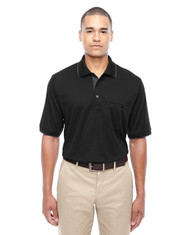 Black 88222 Ash City - Core 365 Men's Motive Performance Pique Polo with Tipped Collar