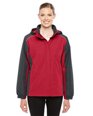 Classic Red/Carbon 78225 Ash City - Core 365 Ladies' Inspire Colorblock All-Season Jacket