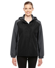 Black/Carbon 78225 Ash City - Core 365 Ladies' Inspire Colorblock All-Season Jacket | Blankclothing.ca