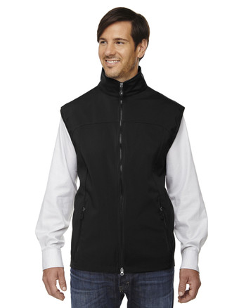 Black - 88127 North End Men's Soft Shell Performance Vest