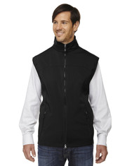 Black - 88127 North End Men's Soft Shell Performance Vest | Blankclothing.ca