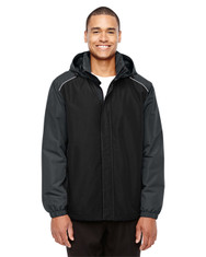 Black/Carbon 88225 Ash City - Core 365 Men's Inspire Colorblock All-Season Jacket | Blankclothing.ca