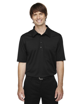 Black 85114T Ash City - Extreme Eperformance Men's Tall Protection Plus Polo