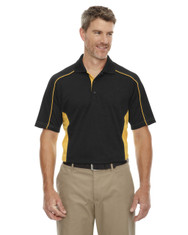 Black-Cmps Gld 85113 Ash City - Extreme Eperformance Men's Plus Colourblock Polo