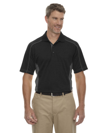 Black 85113 Ash City - Extreme Eperformance Men's Plus Colourblock Polo Shirt