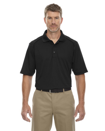 Black 85108T Ash City - Extreme Eperformance Men's Tall Protection Short-Sleeve Polo