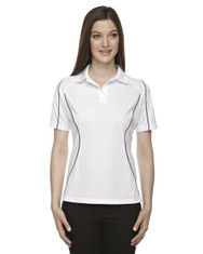 White 75107 Ash City - Extreme Eperformance Ladies' Velocity Colourblock Polo with Piping