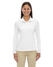 White 75111 Ash City - Extreme Eperformance Ladies' Long-Sleeve Polo