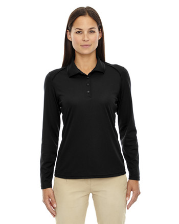Black 75111 Ash City - Extreme Eperformance Ladies' Long-Sleeve Polo