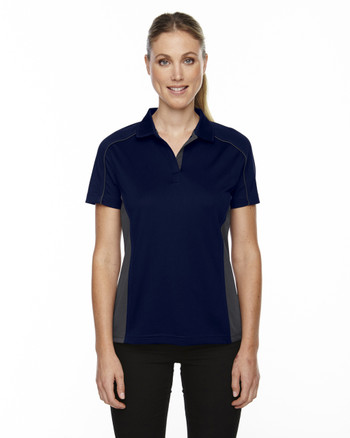 Classic Navy 75113 Ash City - Extreme Eperformance Ladies' Fuse Plus Colourblock Polo | Blankclothing.ca