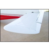 Installed picture of Piper PA28 left stabilator tip from Texas Aeroplastics.OEM # 63584-10