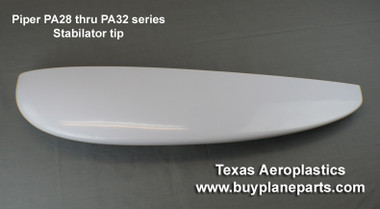 "PIPER PARTS, ""BEST VALUE"" for PIPER STABILATOR TIPS (Right or Left) 60-23-80A, 63584-10 Piper stabilator ABS plastic tip from Texas Aeroplastics. 63584-10"