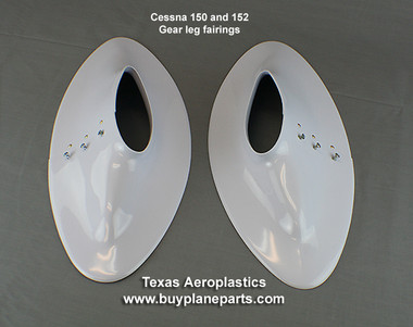 Cessna 150 and 152 landing gear fairings. Replaces OEM Part Numbers 0041217-214 (left) 0041217-215 (right). Product number 26-06-80A