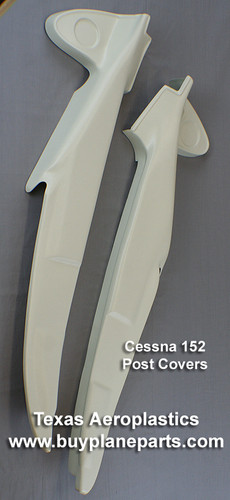 Cessna 152 post covers. Replaces Cessna Part Numbers 0413484-27 (left) 0415013-7 (right) Product number 26-13-80A