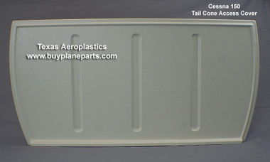 "Cessna 150 tail cone access cover,  Replaces Cessna part number 0415021-12. Product number 26-26-80A Product Dimensions: 13 1/8"" tall, 26 1/2"" across the top, 24"" across the bottom"