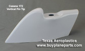Cessna 172 vertical fin cap, replaces OEM part number 0531033-1.