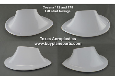 CESSNA LIFT STRUT FAIRINGS, Cessna 172  Strut Fairings (1958-1973), 0522150-1,0522150-2,0522150-3,0522150-4,  The BEST VALVE in Cessna lift strut fairings.