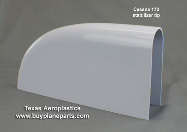 "Your ""BEST VALUE"" in CESSNA 172 STABILIZER TIPS (Left or Right)(1963-1986)(Includes 172R and 172S models) 28-10-80A, 0532001-93,  The most popular Cessna 172 Stabilizer Tip replacement part."