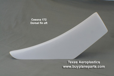 Cessna 172 aft dorsal fin. Replaces OEM part numbers 0531012-2, 0531012-1.