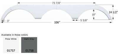 Pilgrim Triple Axle Fender Skirt FS1757