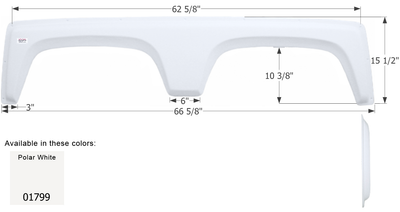 Cruiser 5th Wheel Travel Trailer Fender Skirt FS1799