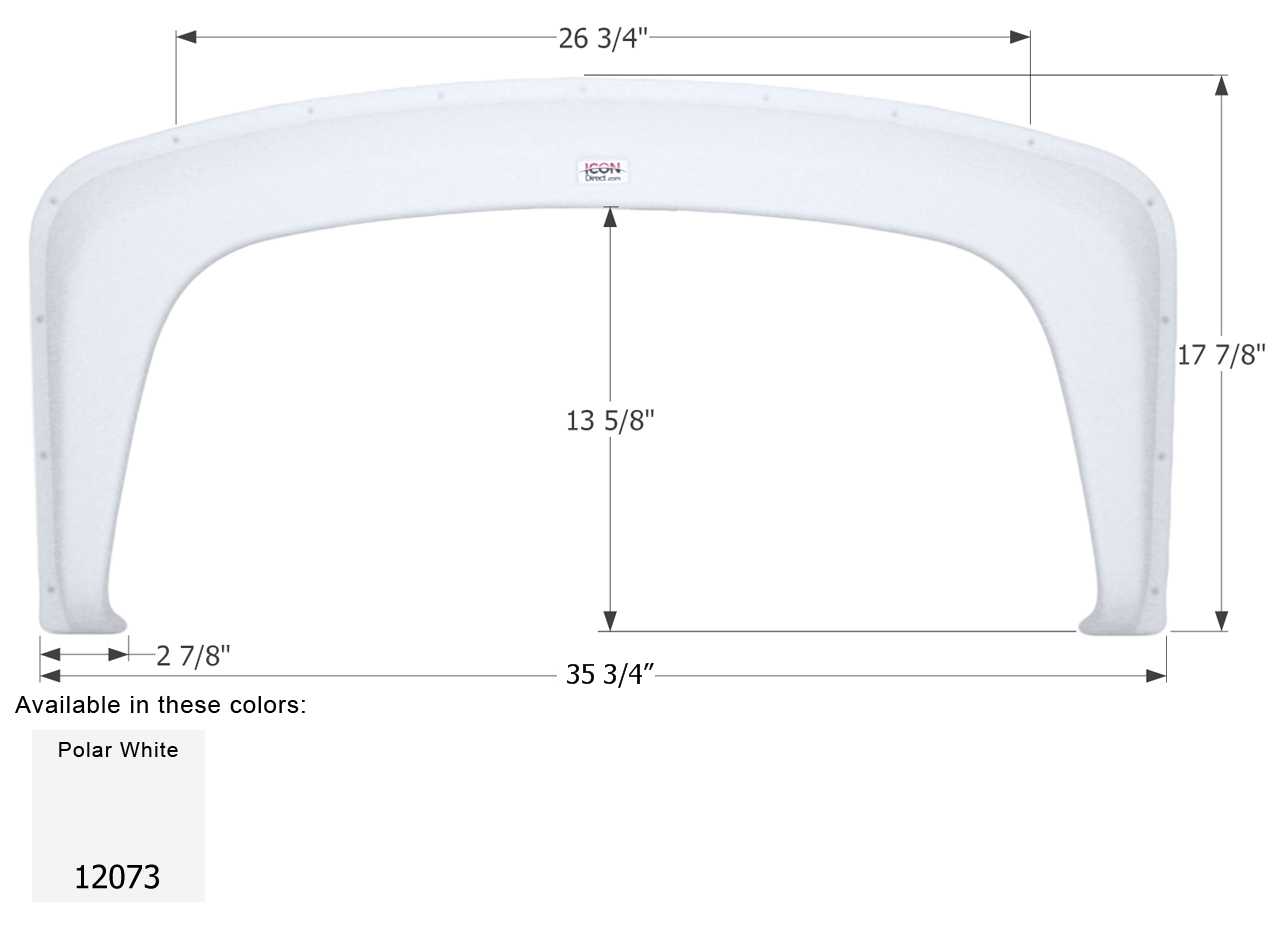 Single Fender Skirt for Gulf Stream Class C RV's - FS2073