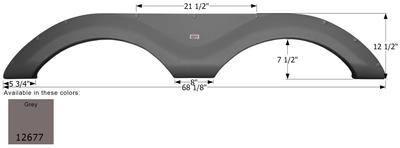 Cruiser Tandem Fender Skirt  FS2677
