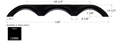 KZ Triple Axle Fender Skirt FS2886