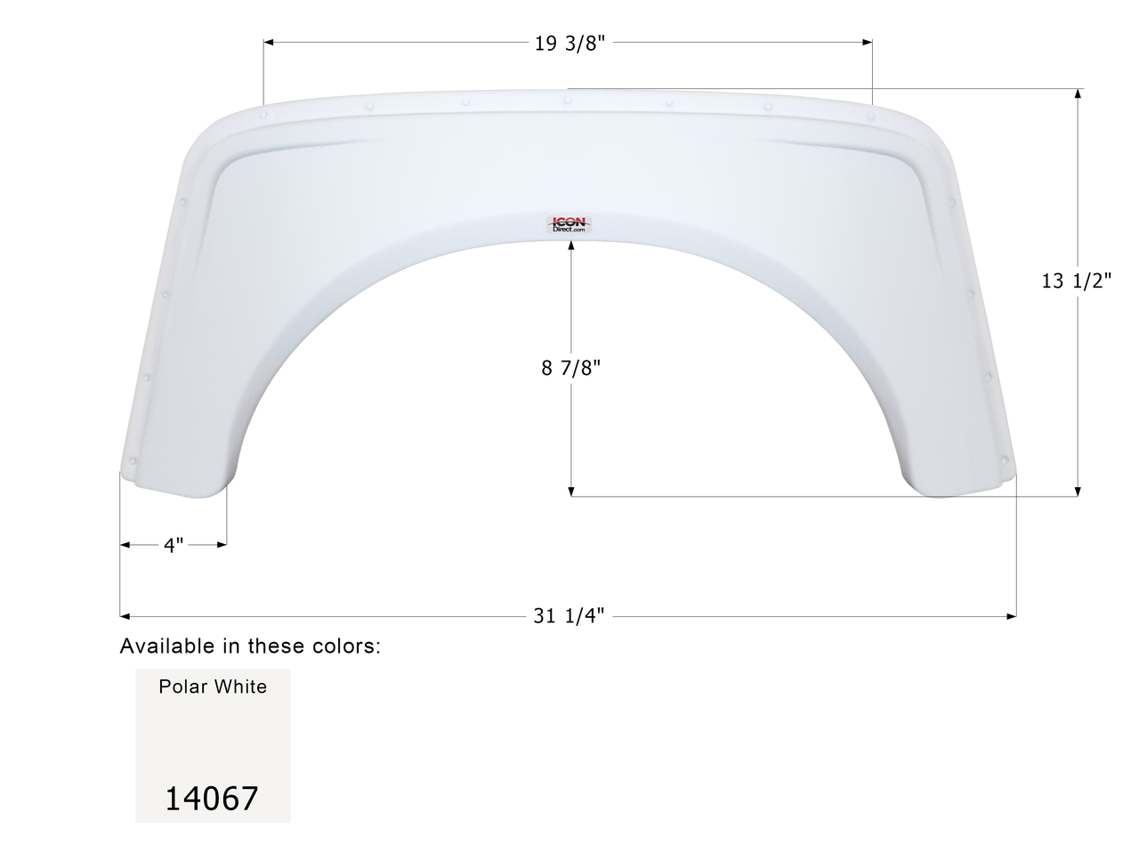 Single Fender Skirt for Aliner Campers - FS4067