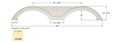 Evergreen Tandem Fender Skirt FS4188