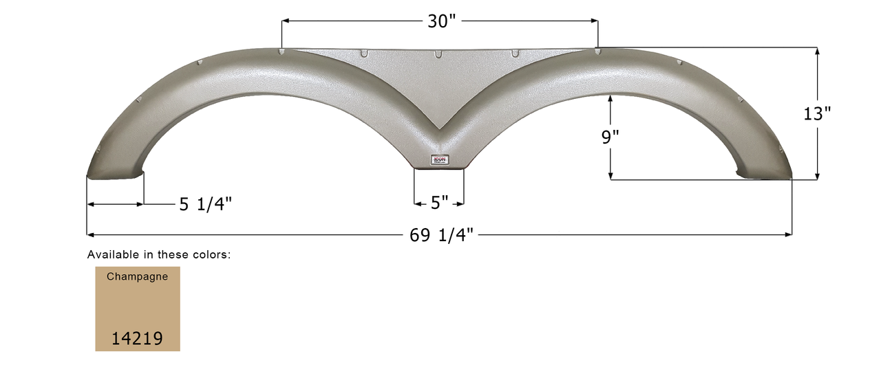 Tandem Fender Skirts for Gulfstream RV's - FS4219