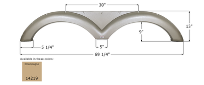 Gulf Stream Tandem Fender Skirt FS4219