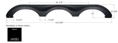 Forest River Triple Axle Fender Skirt FS4351