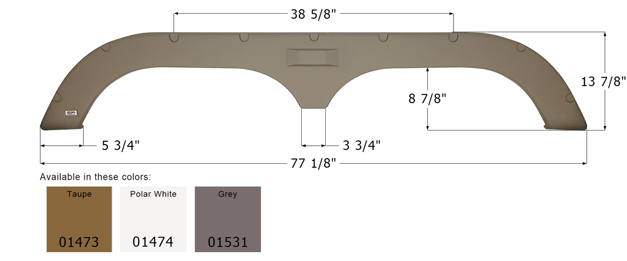 Tandem Fender Skirts for Fleetwood Travel Trailers & Fifth Wheels