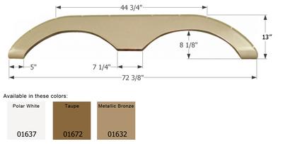 Keystone Tandem Fender Skirt FS774