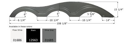 Keystone Triple Axle Fender Skirt FS1000
