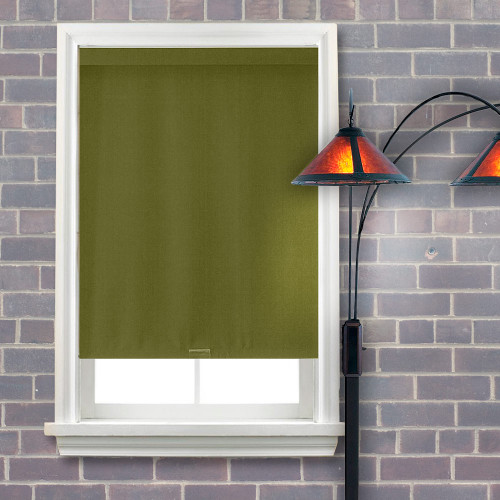 Hayden Blackout Roller Shade Battalion Olive Window
