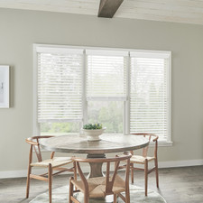 Budget Cordless Faux Wood Blinds - Smooth